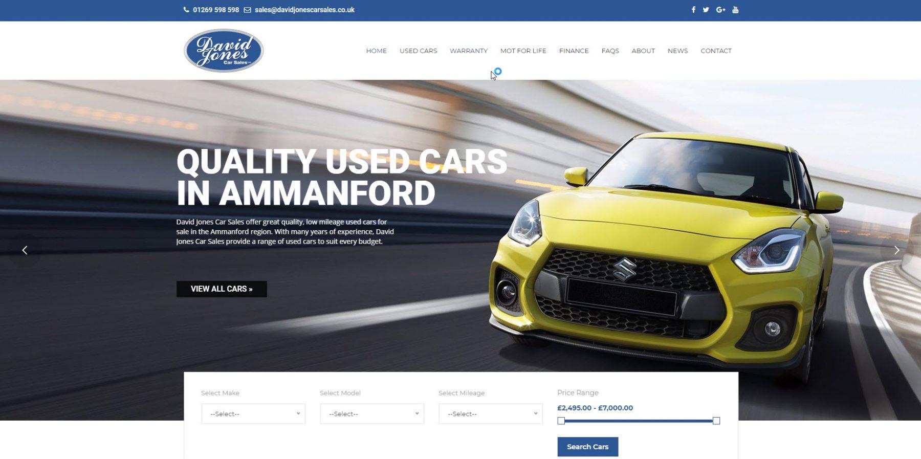 used cars for sale, ammanford, carmarthenshire - david jones car sales